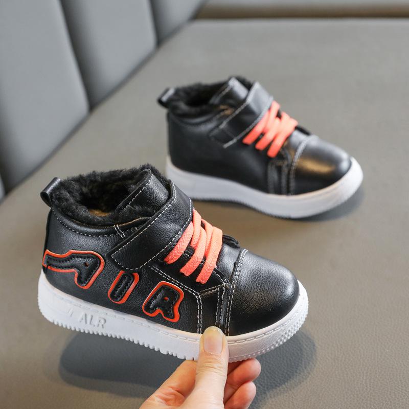 2020秋冬新款∮儿童学生运动鞋高帮加绒板鞋男童大棉休闲鞋女童鞋子