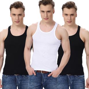 夏季男士背心纯棉紧身全棉青年透气