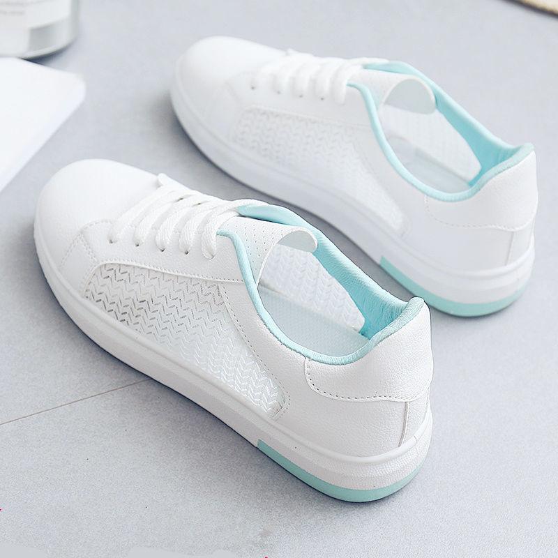 小白鞋女2020夏季新款爆款女鞋百搭韓版學生網紅板鞋潮鞋透氣鞋子