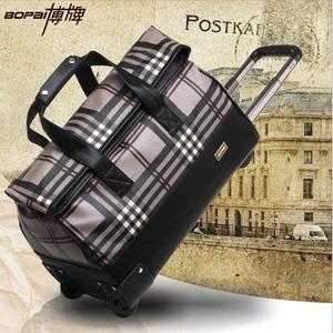 博牌商务防水手提旅行包女 18寸时尚行李包袋复古拉杆包行李箱包