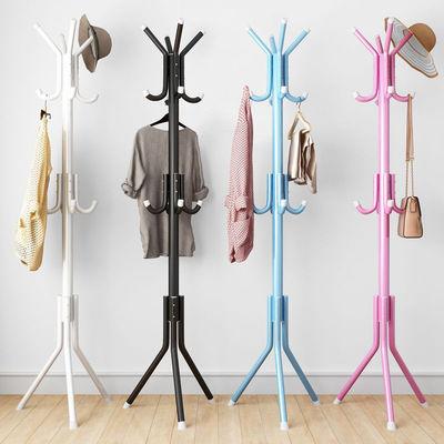 【限时促销】简易衣帽架铁艺挂衣架落地室内门厅卧室衣服架挂包架