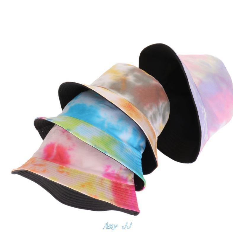 Selling tie-dye fisherman hat female cotton breathable summe