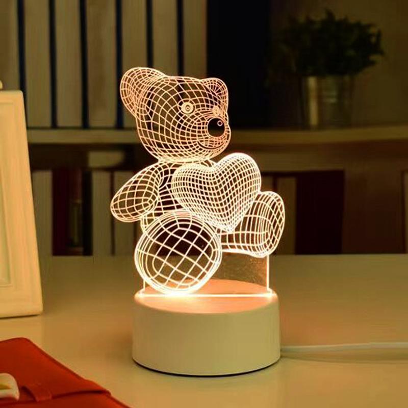 LED小夜灯床头卧室台灯生日礼∑物送女生闺蜜创意男朋友少女心实用