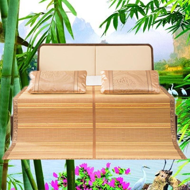 夏季可折叠碳化席单人双人双面用竹席凉席