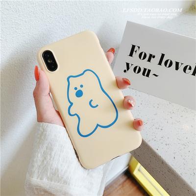 日韩ins奶油小熊iPhone7/8plus苹果x手机壳XS Max/XR硅胶6s可爱女