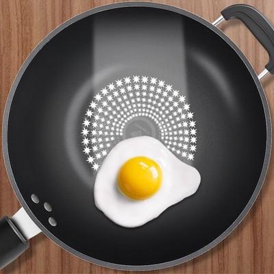 【德国晶钻】炒菜不粘锅平底锅家用炒锅具电磁炉燃气灶通用