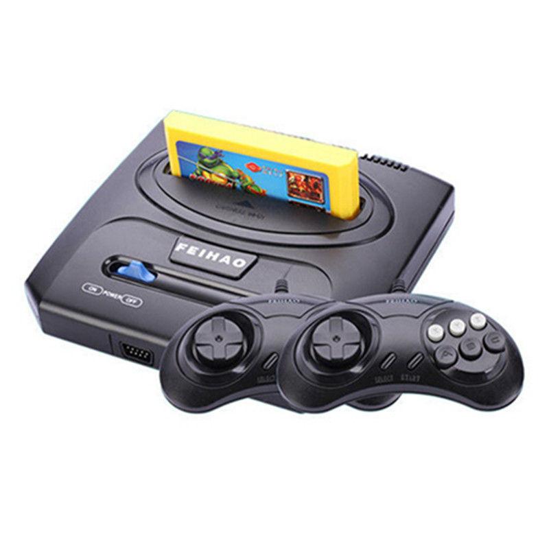 电视游戏机8位黄卡家用经典怀旧插卡双人手柄游戏机红白机高清4K
