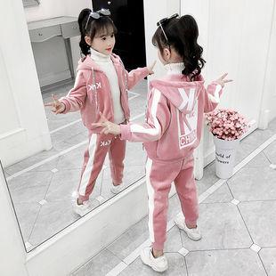 秋冬裝新款運動加絨套裝兒童洋氣時髦兩件套