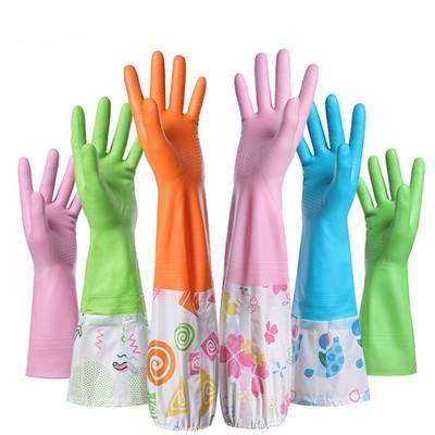 洗碗手套神器防水乳胶女洗衣服刷碗家务胶皮橡胶耐用冬天pvc加绒
