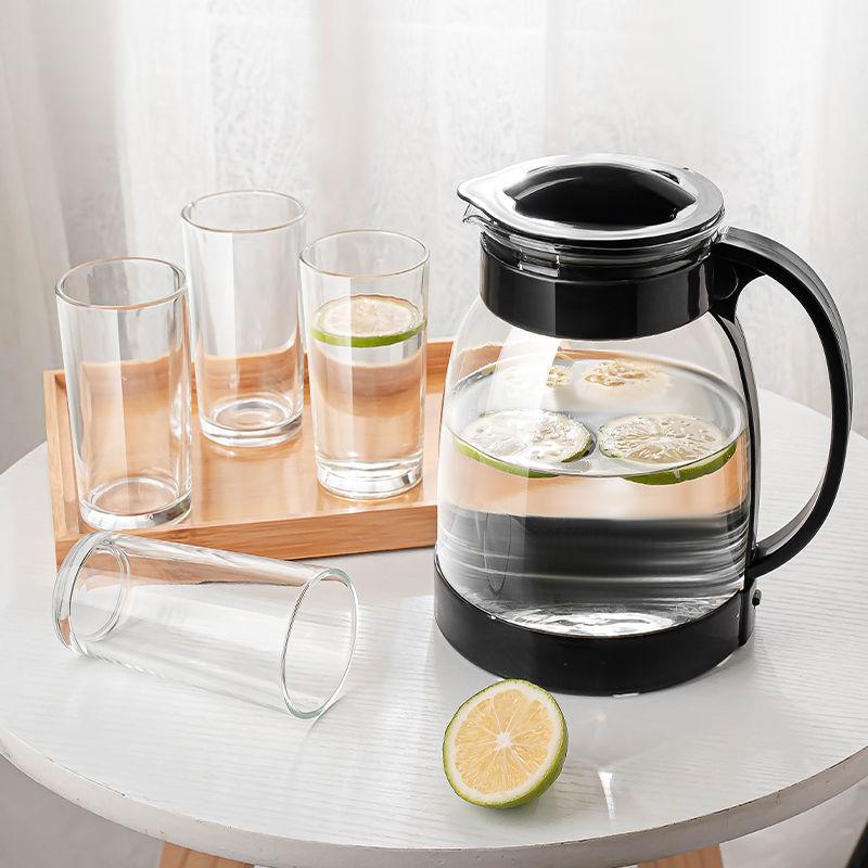 大容量玻璃冷水壶饮料壶果汁壶扎啤壶家