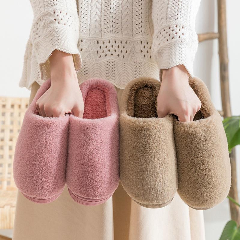 情侣棉拖鞋女生秋冬季包跟2020新款室内家居可爱家用毛绒男士冬天