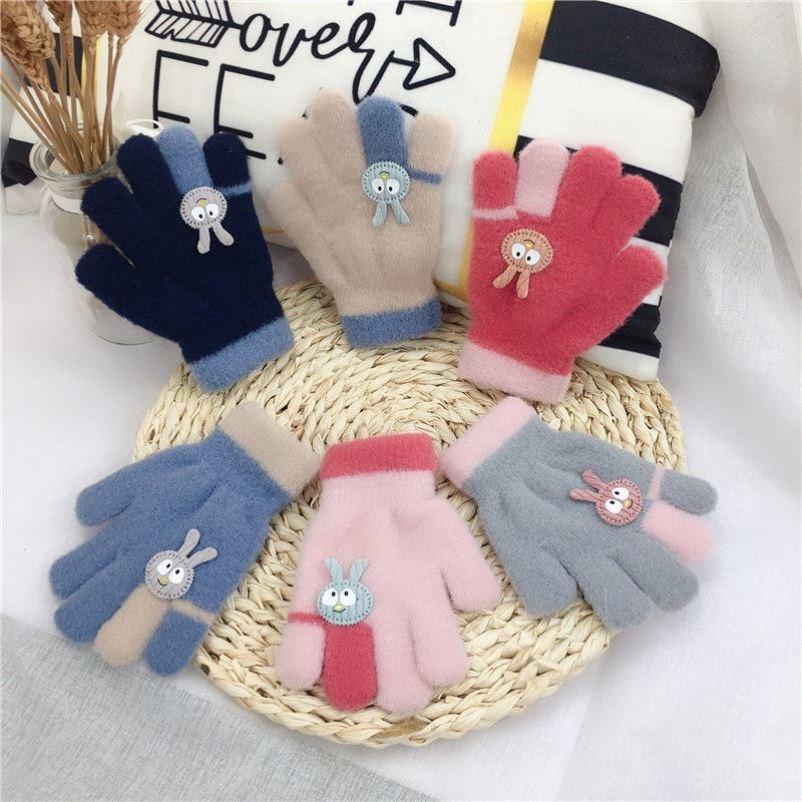 儿童手套秋冬可爱宝宝保暖手套雪貂绒