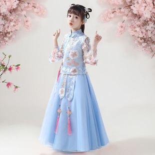 儿童汉服女春夏装女童古装裙子超仙中国风公