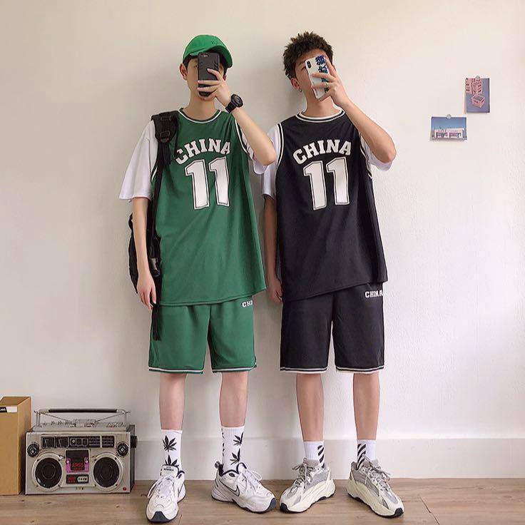 【两件套】篮球服套装跑步训练服运动服潮流