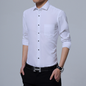 主推秋季男士长袖纯色工装衬衫大码商务休闲衬衣男B262-C04-P25