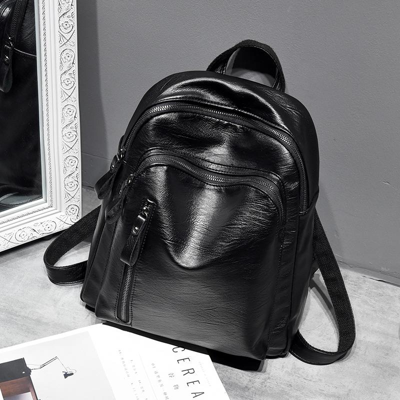 双肩包迷小包软皮休闲百搭背包女时尚潮流女款包包2018新款大容量