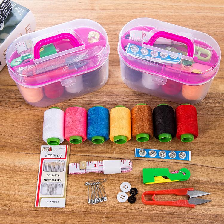 家用针线盒套装针线包手缝线缝补工具手提便携缝补收纳盒包邮