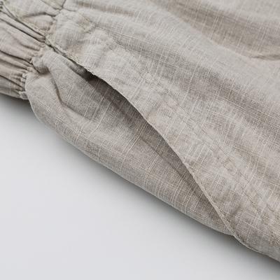 Mùa hè phần mỏng người đàn ông trung niên lanh quần âu trung niên cha năm điểm cao eo lỏng kích thước lớn bông và vải lanh quần short