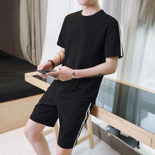 短裤套装男士短袖夏季薄款两件套男装运动裤