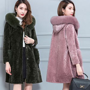 Chống mùa lông loại bỏ tủ cừu cắt áo khoác nữ đặc biệt giải phóng mặt bằng bán lông một 2018 mới áo dài mùa đông