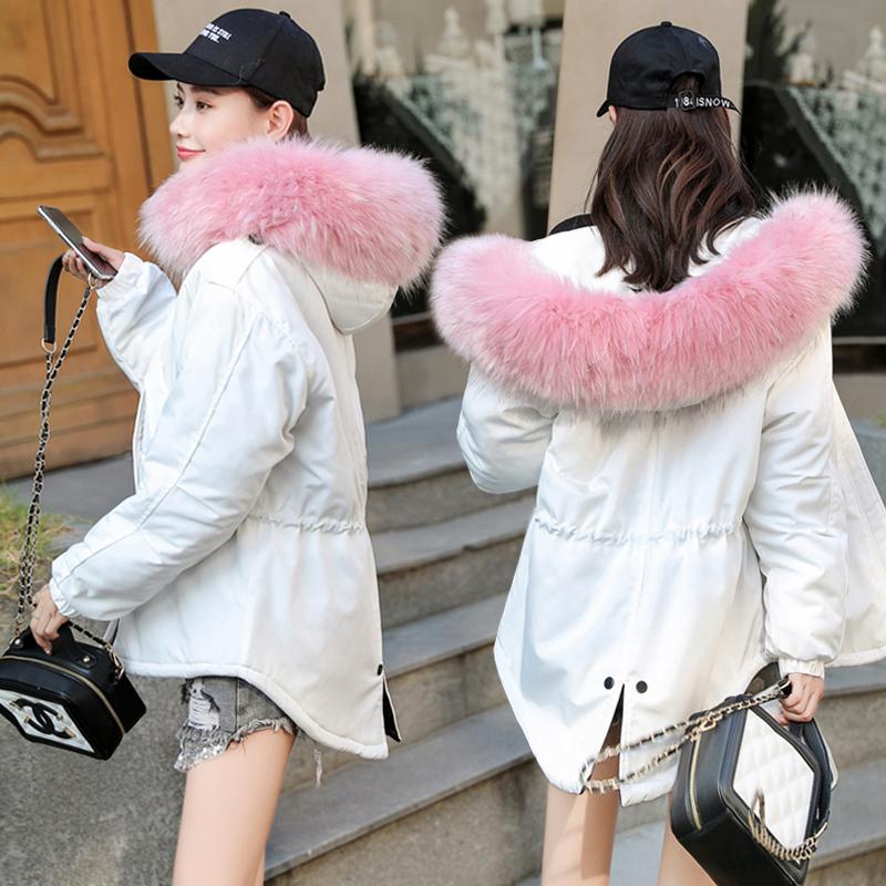 Chống mùa bông quần áo nữ 2018 mới dày áo mùa đông bánh mì dịch vụ Hàn Quốc phiên bản của sang trọng ngắn ins bông áo khoác bông áo khoác