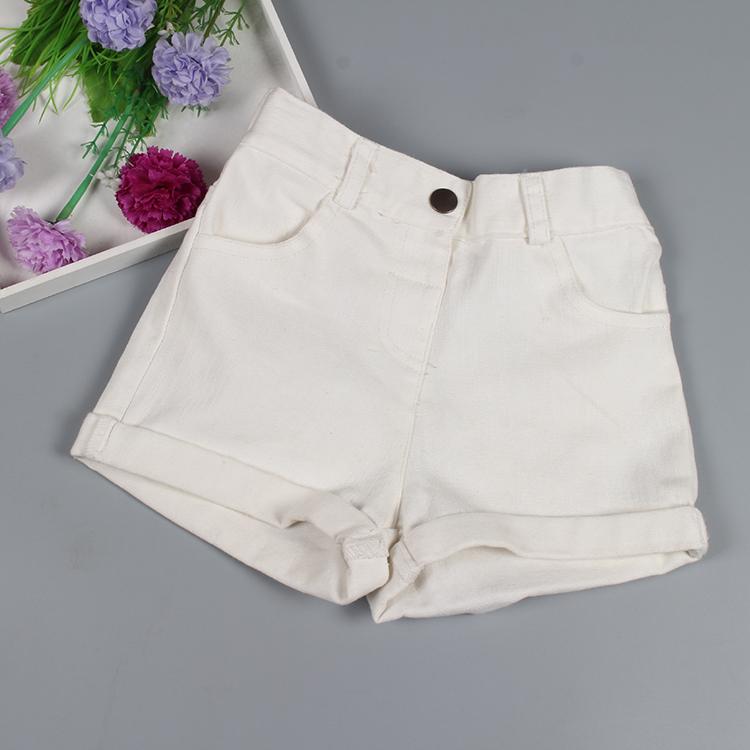 Giải phóng mặt bằng trẻ em mặc quăn quần short cô gái hoang dã trắng stretch jeans thoải mái bé bé mùa hè nóng quần