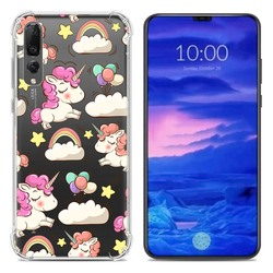14 Huawei P30 Girls Phone Cases Covers Hibiscus Flower, Marble Pattern,  Wolf, Dream Catcher, Unicorn Illustration Silicone TPU