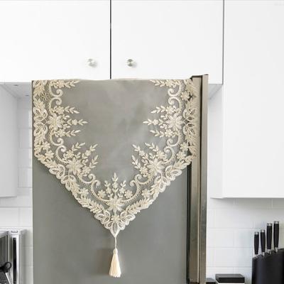 欧式冰箱盖布洗衣机盖巾蕾丝绣花盖布餐桌电视柜盖布多用美式盖巾