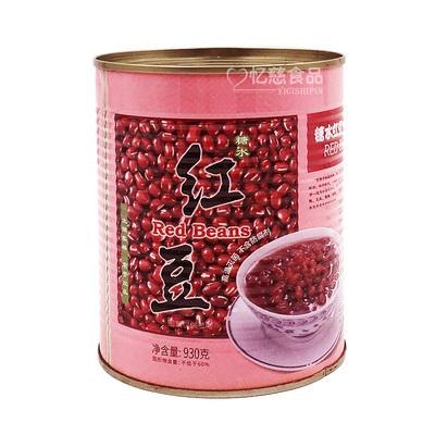 太湖美林熟红豆罐头糖纳蜜豆奶茶