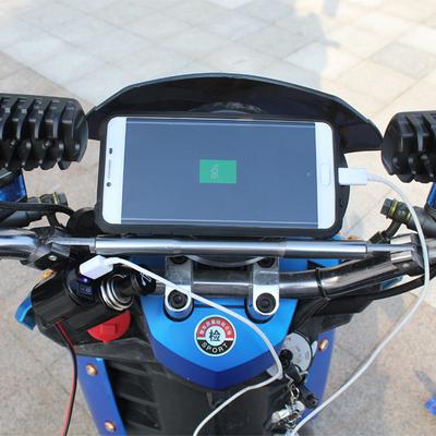 摩托车手机充电器usb防水电动车车载供电充电器改装配件12V点烟器
