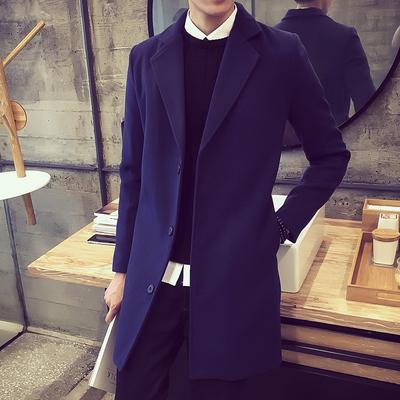 Nam dài áo gió nam mùa thu và mùa đông Hàn Quốc phiên bản của tự trồng áo khoác len của nam giới len quần áo xu hướng Áo len