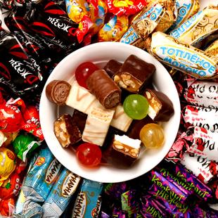【俄罗斯进口】巧克力夹心糖500克