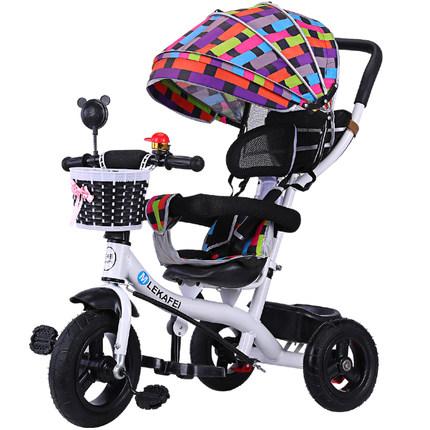 夏季新款儿童三轮车手推车脚踏车1-3-6宝宝防侧翻童车自行车