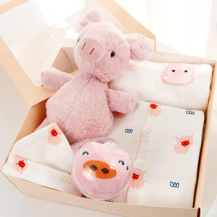 Đồ chơi trẻ sơ sinh quần áo hộp quà tặng bé trai và bé gái 0-3-1 tuổi - Bộ quà tặng em bé