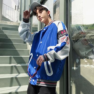 Mùa xuân áo khoác nam lỏng Hàn Quốc phiên bản của xu hướng hip hop cổng gió đẹp trai nhỏ tươi sinh viên văn học mát đồng phục bóng chày đường phố Đồng phục bóng chày