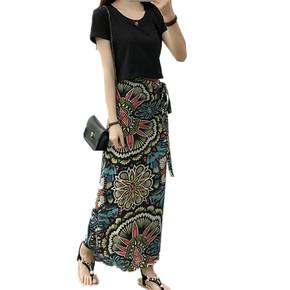 最新款女夏一片式波西米亚半身裙