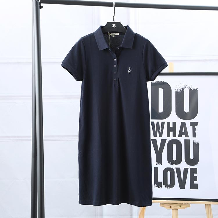 夏季新款连衣裙女学生保罗中长裙-优惠10元包邮