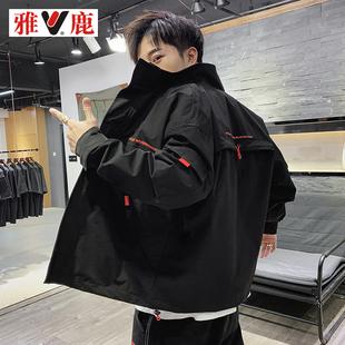 【雅鹿】春秋季新款韩版学生工装夹克外套