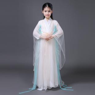 三生三世十里桃花白浅杨幂cos同款儿童古装演出服女仙女服装汉服