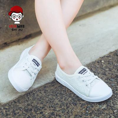 女童帆布鞋秋季2017新款
