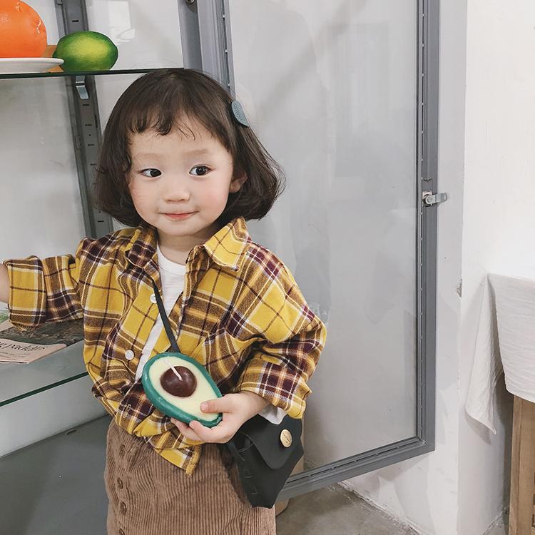 女童2019新款秋装洋气磨毛休闲格子衬衫儿童韩版长袖外套宝宝衬衣