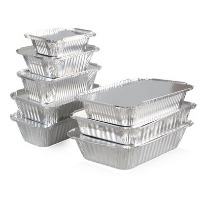 锡纸盒烧烤金针菇长方形圆锡纸做的盒碗盘打包烘培一次性快餐锡盒