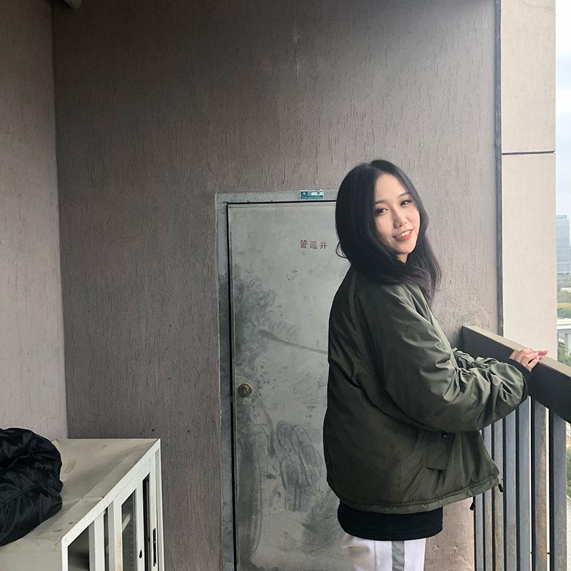 新因素 新款秋冬空军夹克ma1加厚长袖 男女情侣宽松棉衣外套