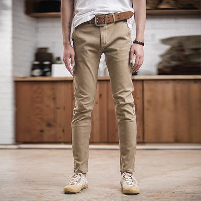 Madden dụng cụ Mỹ thường rửa cũ làm việc quần mùa xuân mới quăn thẳng mỏng kaki quần nam Quần làm việc