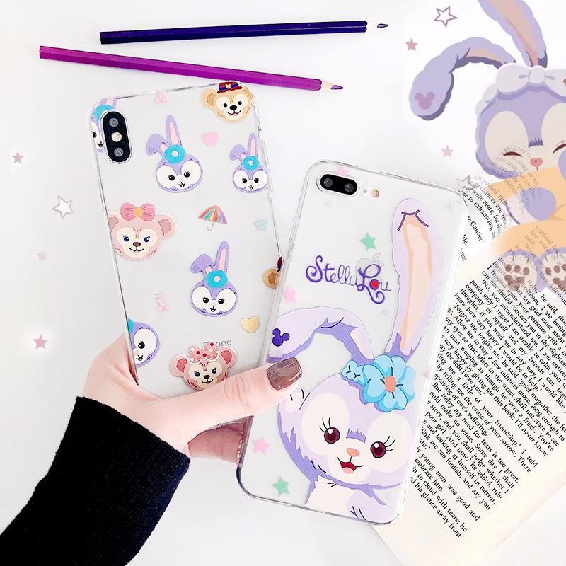 星黛露芭蕾兔手机壳iPhone11ProMax达菲熊雪莉玫苹果Xs/Xr/7/8p紫