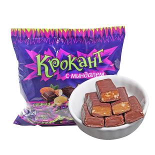 俄罗斯进口夹心巧克力紫皮糖果