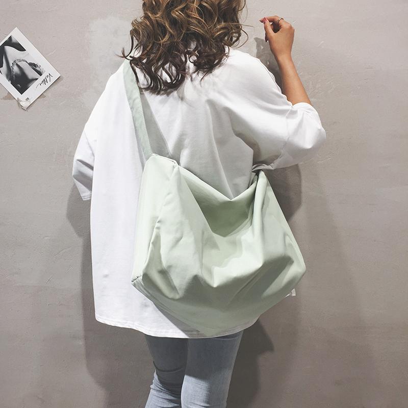 高级感尼龙包包女新款大容量托特包休闲港风时尚单肩斜挎包潮