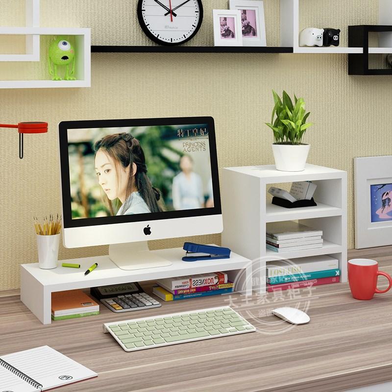 Thêm phong cách màn hình máy tính dày tăng khung cơ sở máy tính để bàn hộp lưu trữ kệ kệ khác