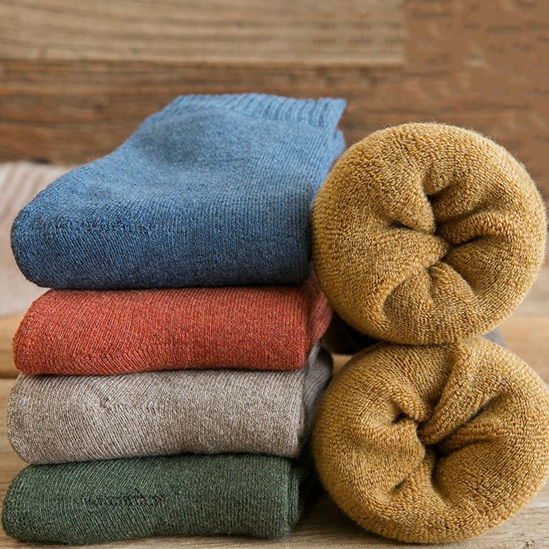 袜子女韩版@中筒袜秋冬季加绒加厚保暖棉袜长筒女士女士冬天长袜