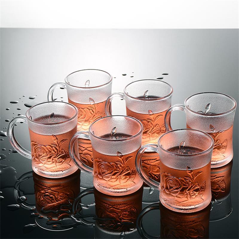 【12只】玻璃杯家用套装带把水杯
